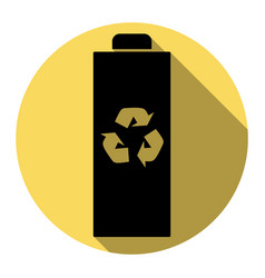battery recycle sign flat vector image vector image