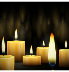 Burning candles vector