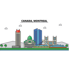 canada montreal city skyline architecture vector image