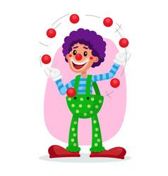 classic clown amazing public circus show vector image