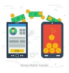Concept mobile money transfering vector