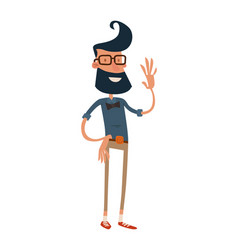 Creative hipster character business design studio vector