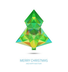 Crystal chrismas tree - hipster modern triangle vector