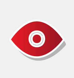 eye sign new year reddish vector image vector image