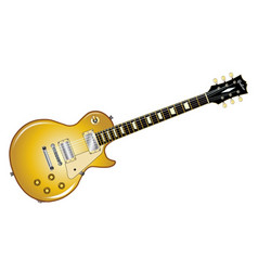 Gold top guitar vector