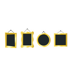 golden frames vector image