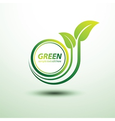 Green labels3 vector image
