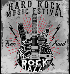 Hard rock music poster vector