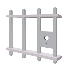 Iron bars door with a locking mechanism vector