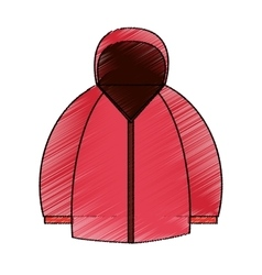 Isolated jacket of winter design vector image vector image