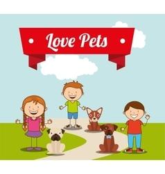 love pets vector image