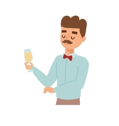 Man wine glass vector image