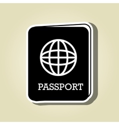 passport icon design vector image vector image