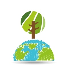 planet earth ecology icon vector image