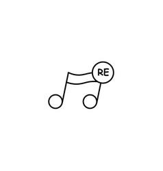 re note icon vector image vector image