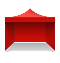 Red folding tent vector image vector image