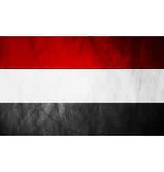 Republic of Yemen grunge flag vector image vector image