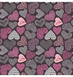 seamless pattern in with hand drawn sketch vector image vector image