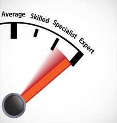 Skill level speedometer vector image