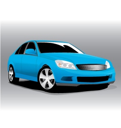 Sports blue car vector