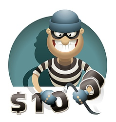 Theft Money vector image vector image