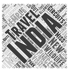 Travel circuit of india word cloud concept vector