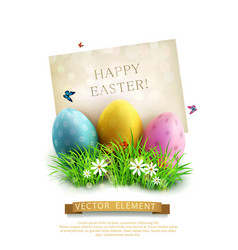vintage element for design easter eggs vector image