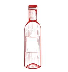 Wine bottle drink vector
