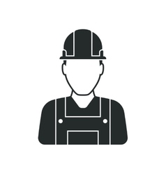 Workman with helmet person icon vector
