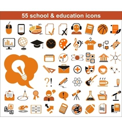 55 education icons vector