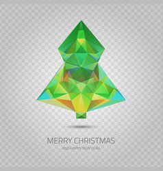 Transparent christmas tree vector