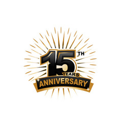 15th anniversary vector image