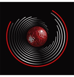 Circle pattern and disco ball vector image