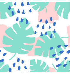 Abstract leaves pattern vector
