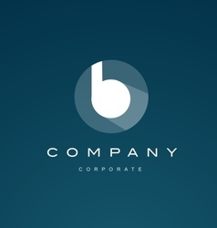 Alphabet blue letter small b logo icon vector