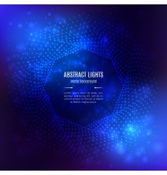 Background abstract blue Octagonal 3D vector image vector image