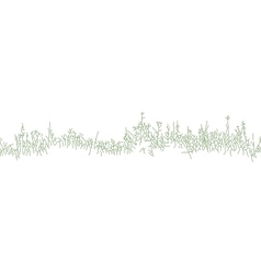 Background with clumps of grass or dry weeds vector