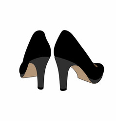 black shoes back vector image