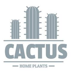 Botany cactus logo simple gray style vector