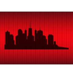cities silhouette EPS 10 vector image vector image