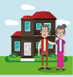 couple with house home image vector image