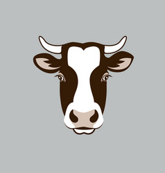 cow head farm vector image vector image