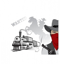cowboy train vector image