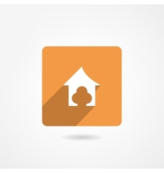 Doghouse icon vector