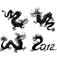 dragon collection vector image vector image