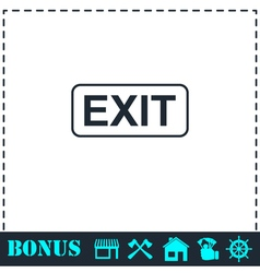 Exit icon flat vector image