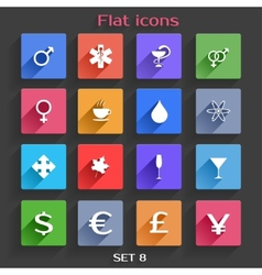 Flat application icons set 8 vector