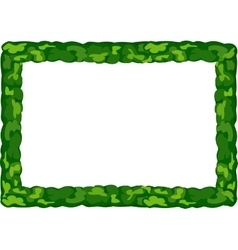 Frame of greenery vector image vector image