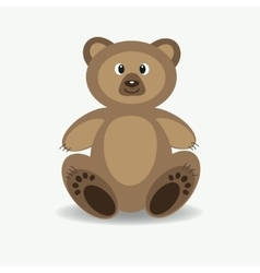 Funny forest bear vector