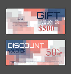 Gift voucher template can be use for shopping vector